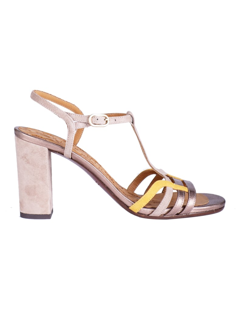 Chie Mihara High-block Heel Sandals - Peach