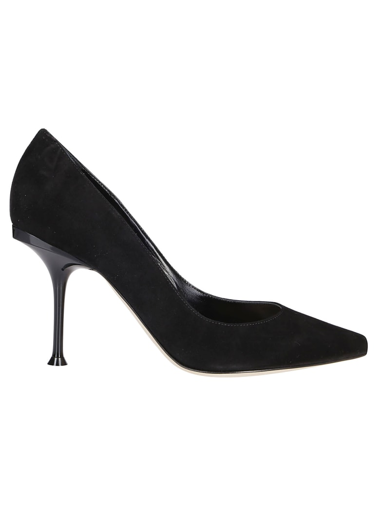 Sergio Rossi Black Stiletto Shoes - Black