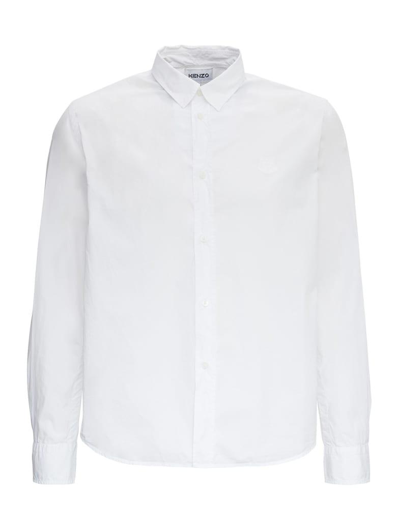 Kenzo Tiger Cotton Shirt - White
