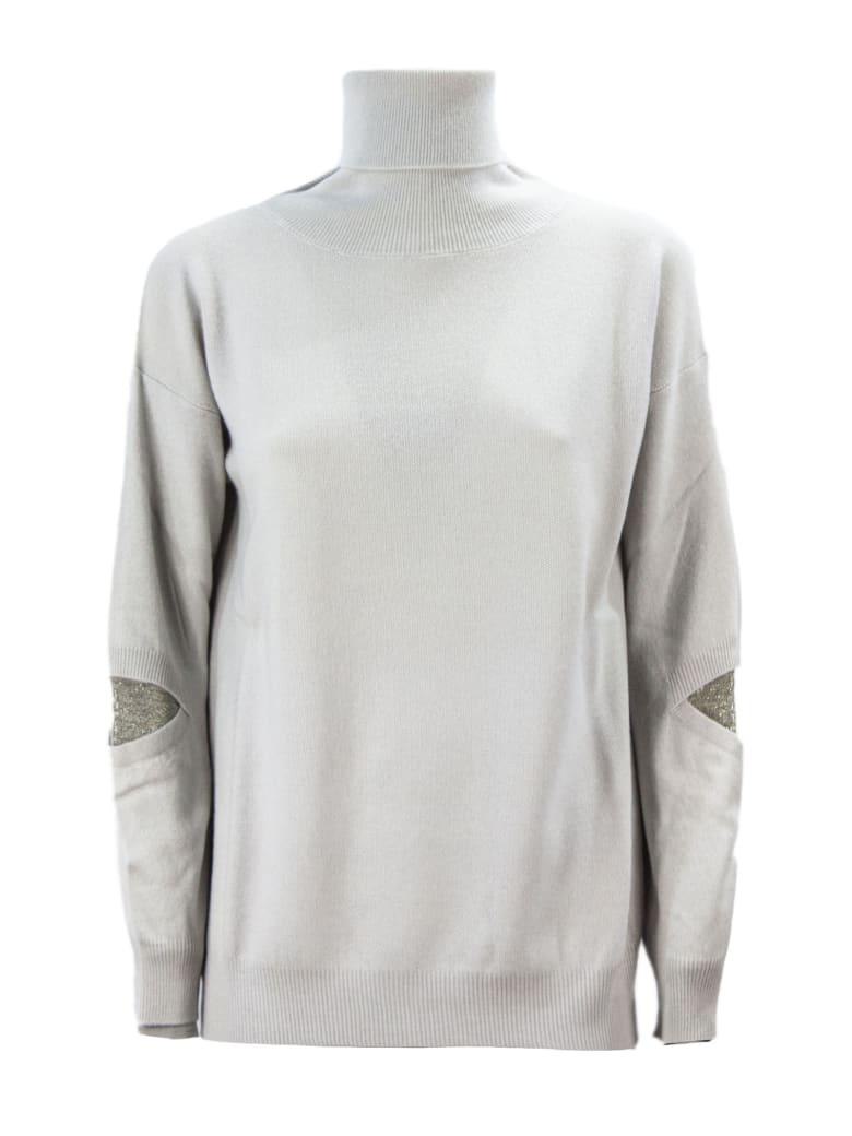 Fabiana Filippi Pearl-tone Merino Wool Blend Sweater. - Perla