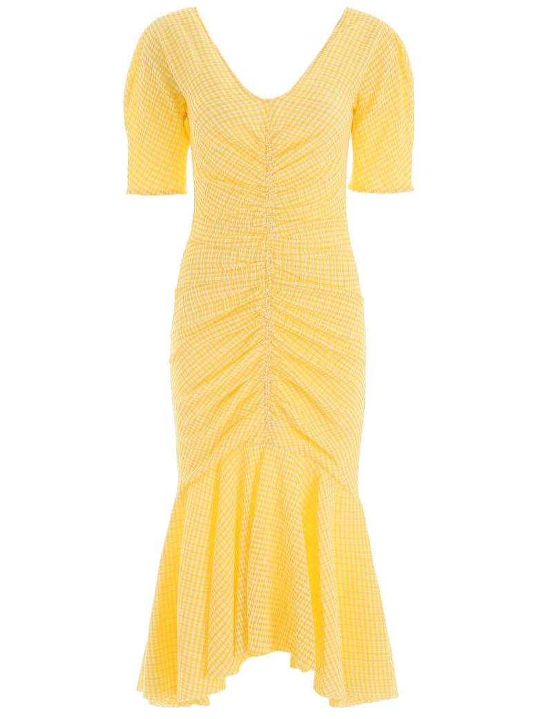 STAUD Panier Dress - YELLOW GINGHAM (Yellow)