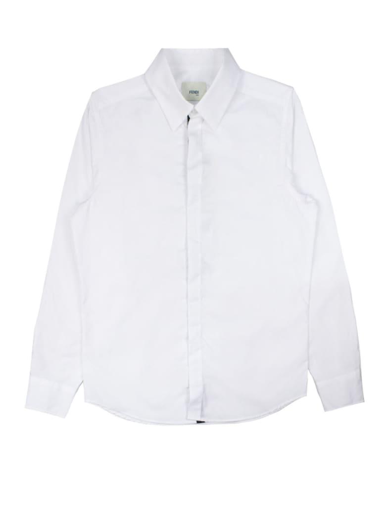 Fendi White Cotton Shirt - Bianco