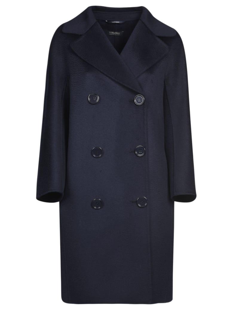 Max Mara The Cube Double-breasted Long Coat - Blue