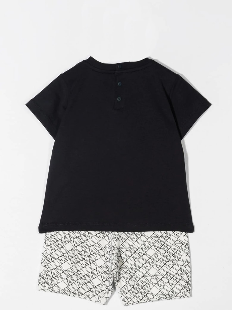 Emporio Armani Complete T-shirt And Shorts - Bianca