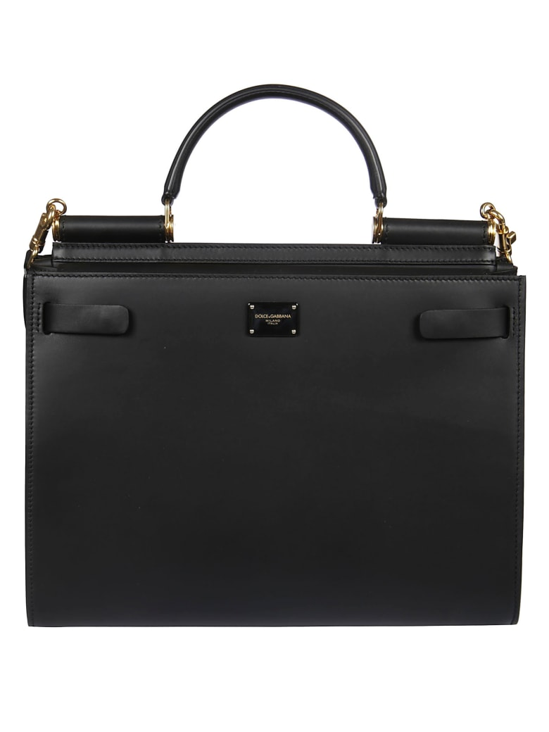 Dolce & Gabbana Logo Plaque Shopper Bag - Nero