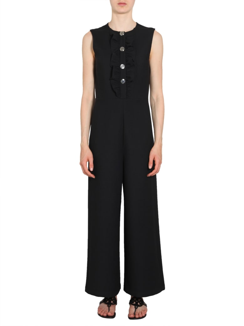 Tory Burch Overalls With Ruches - NERO