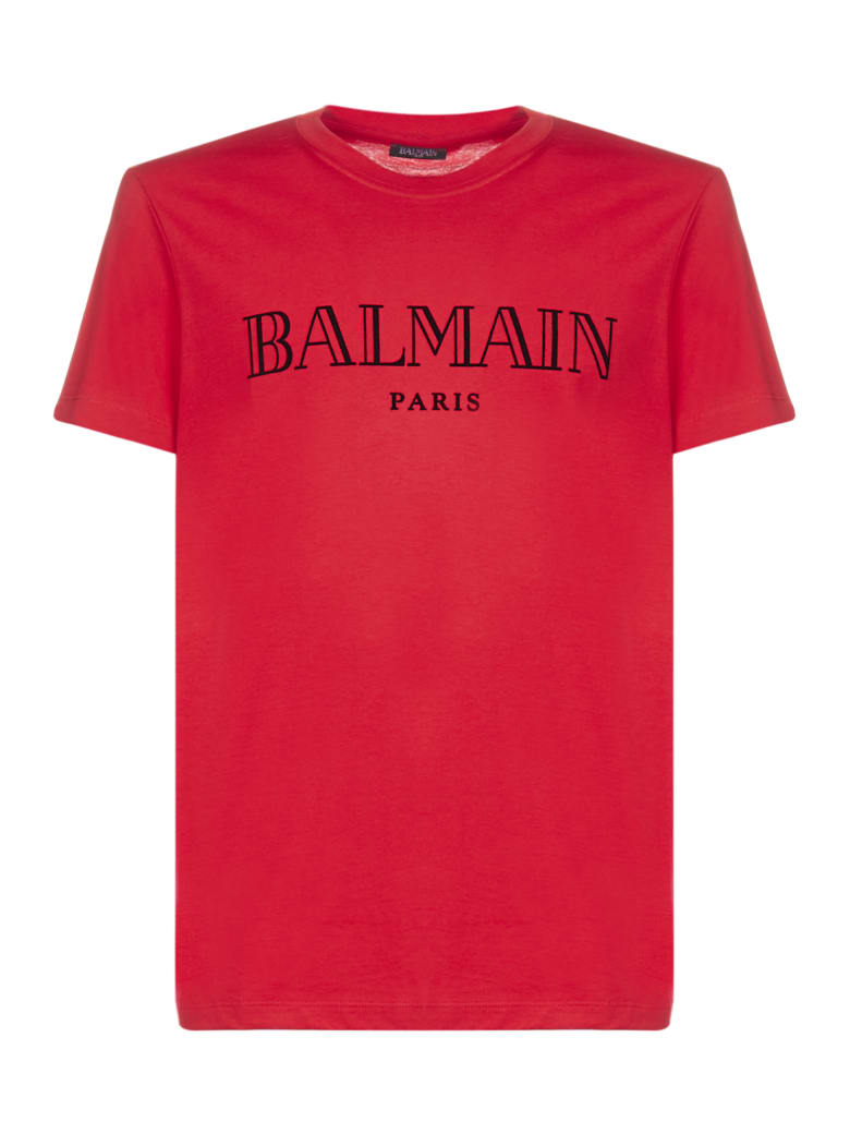 Balmain Short Sleeve T-Shirt - Rouge