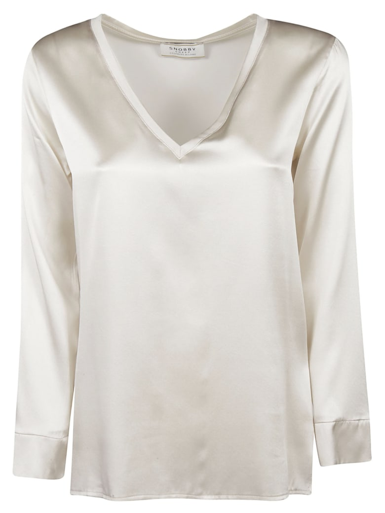 Snobby Sheep V-neck Shiny Top