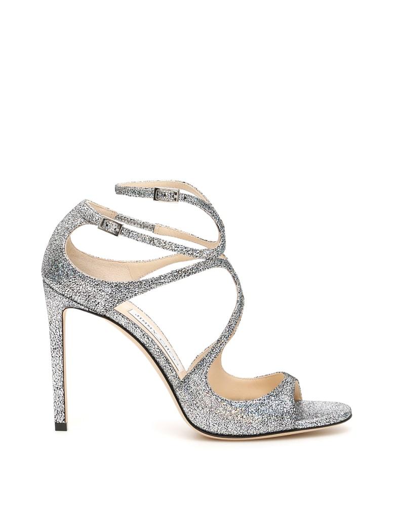 Jimmy Choo Glitter Lang Sandals - MULTI (Silver)