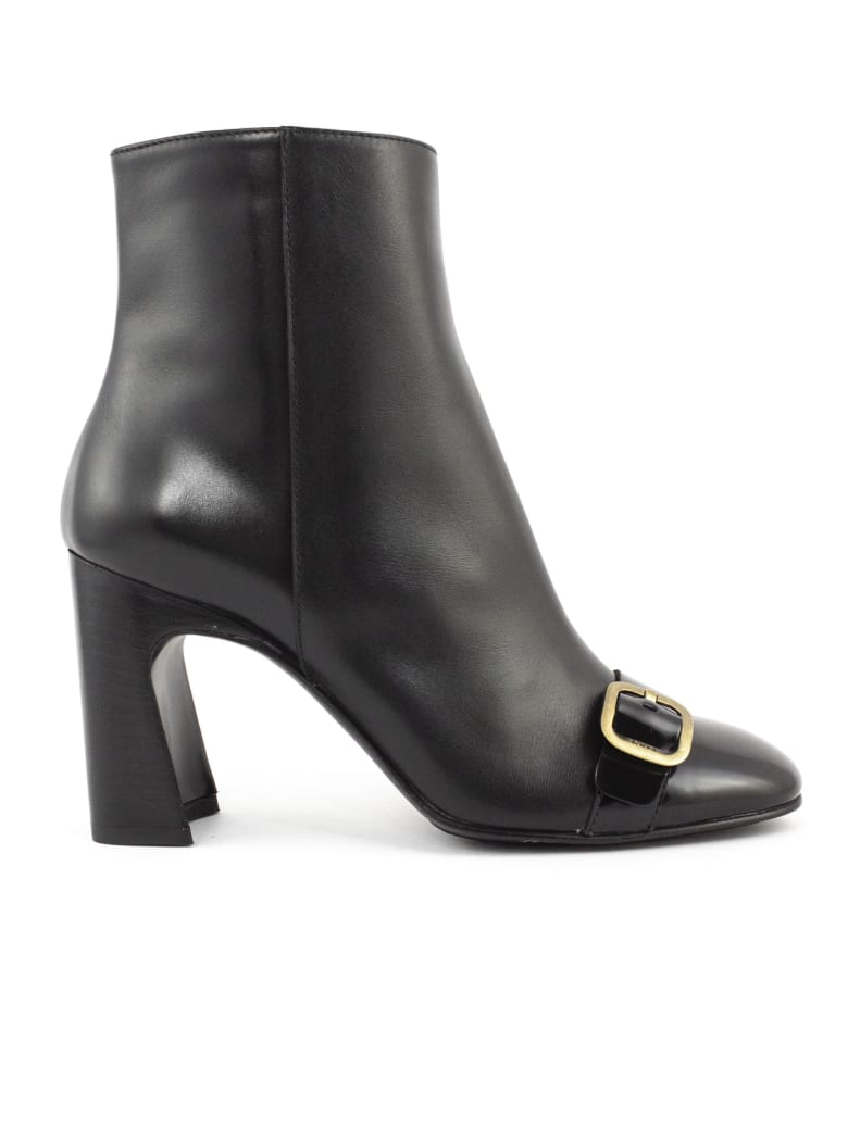 Tod's Ankle Boots In Black Leather - Nero
