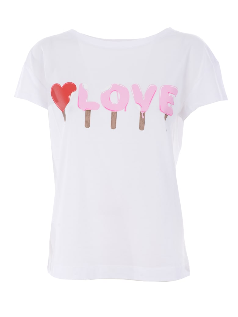 Love Moschino Short Sleeve T-Shirt - Bianco