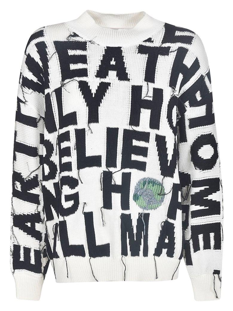 Stella McCartney Frayed Oversized Sweatshirt - Multicolor