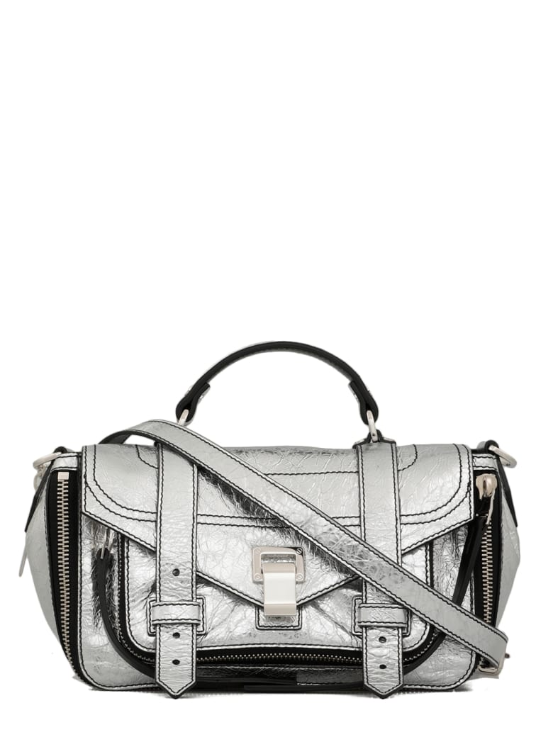 Proenza Schouler Laminated And Stressed Leather Bag - SILVER