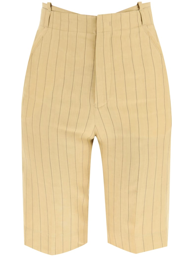 Jacquemus Le Short Gardian Linen Shorts - YELLOW BROWN (Yellow)