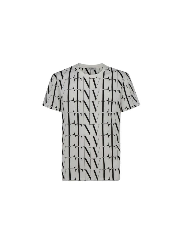 Valentino Pap T-shirt - Bianco/vltn times nero