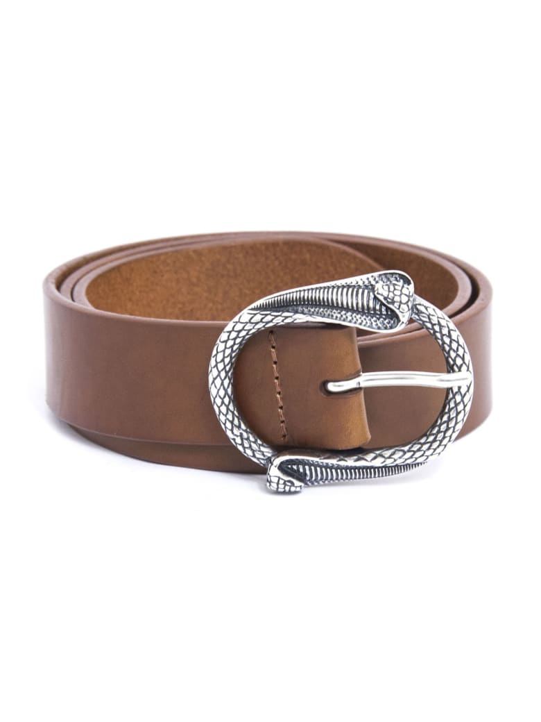 Orciani Brown Leather Belt - Cuoio