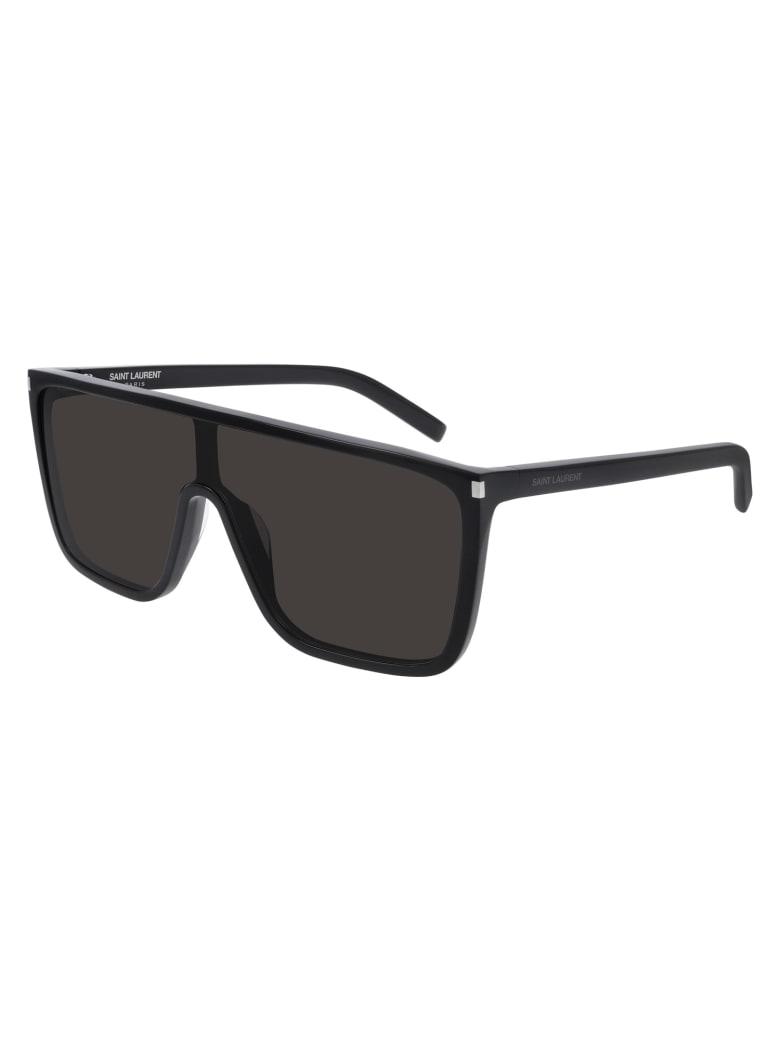 Saint Laurent SL 364 MASK ACE Sunglasses - Black Black Black