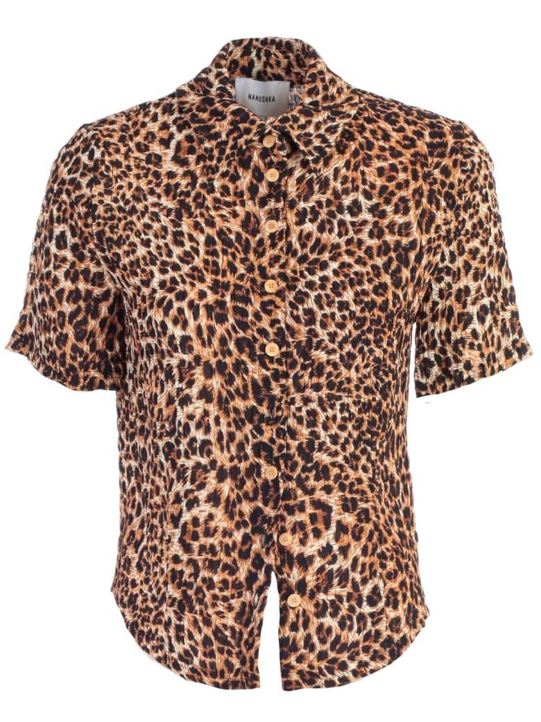 Nanushka Clare Shirt - Ocelot