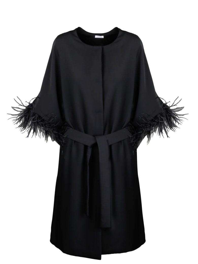 Parosh Panters Long Jacket - Black
