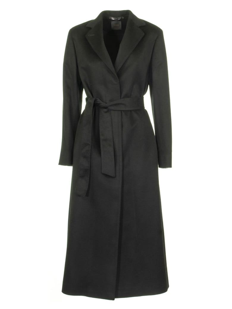 Agnona Cashmere Wrap Coat, Black - Black