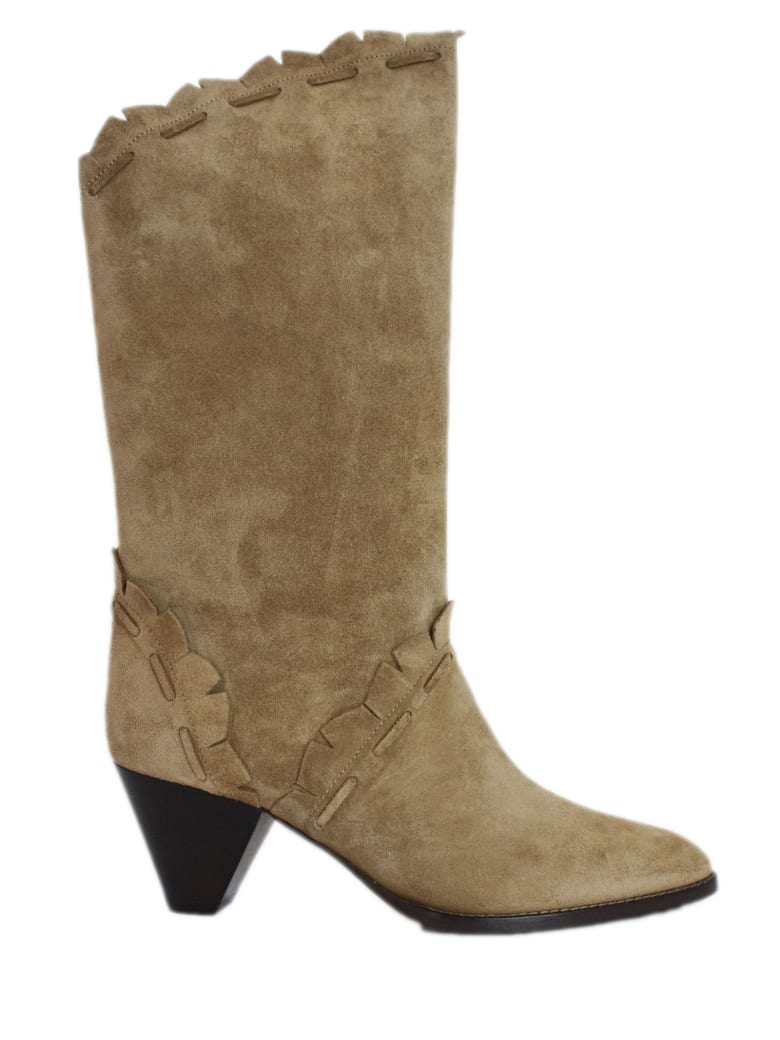 Isabel Marant Brown Suede Boots - Naturale