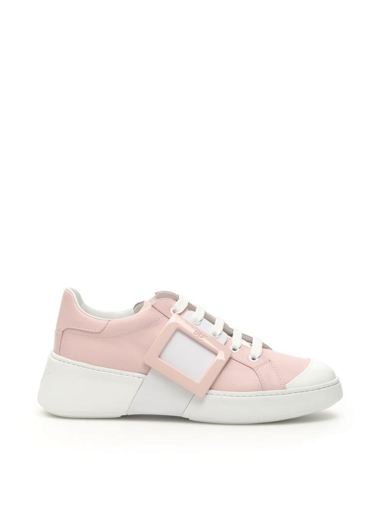 Roger Vivier Viv Skate Sneakers - ROSA BIANCO (Pink)