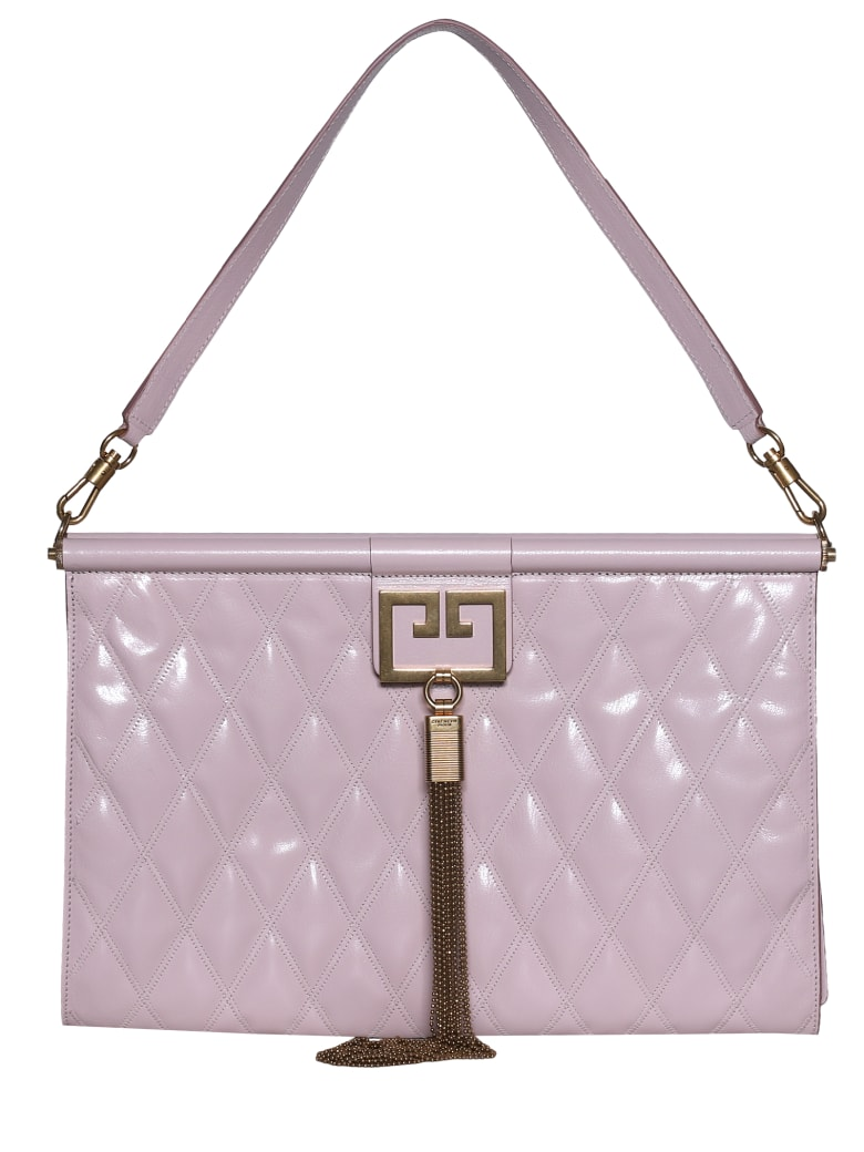 Givenchy Quilted Oversized Clutch - Pale pink