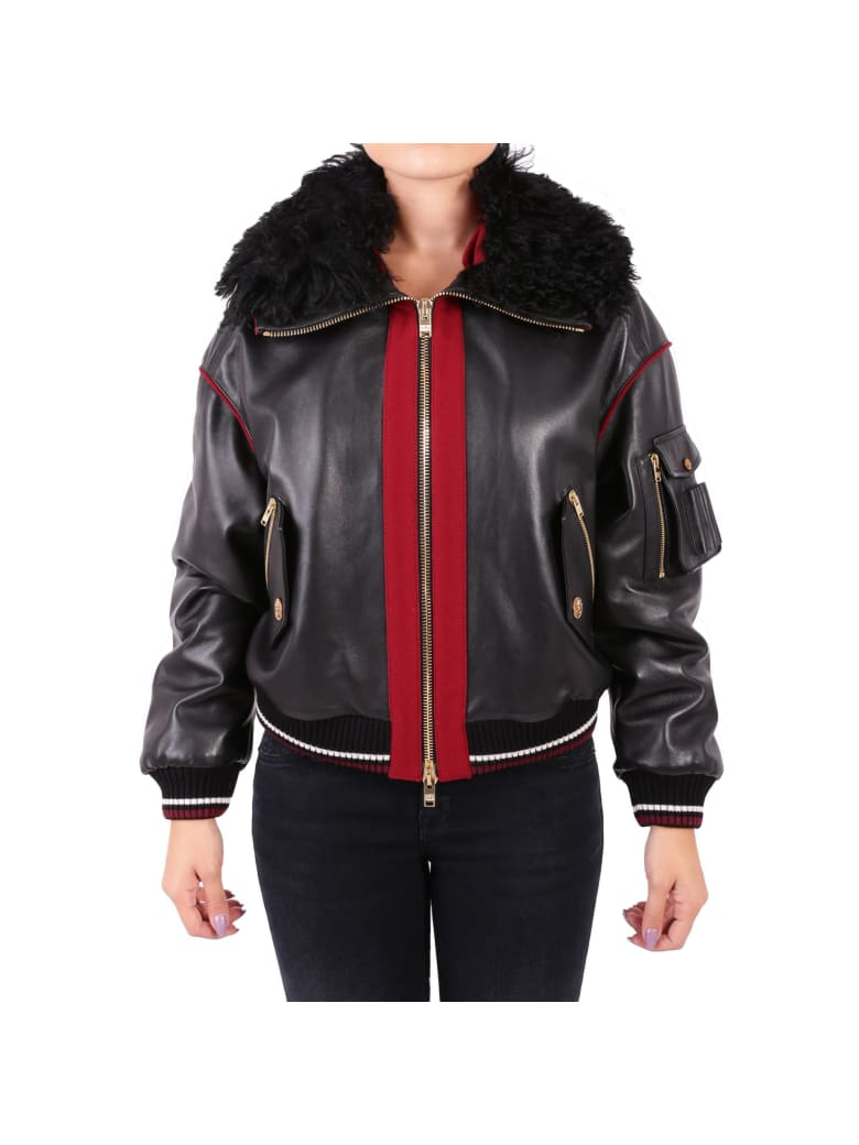 Fausto Puglisi Leather Jacket - BLACK