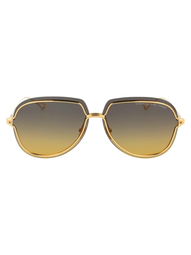 Dita Nightbird - Three Sunglasses - WHITE GOLD W/ GREY TO AMBER GRADIENT - AR
