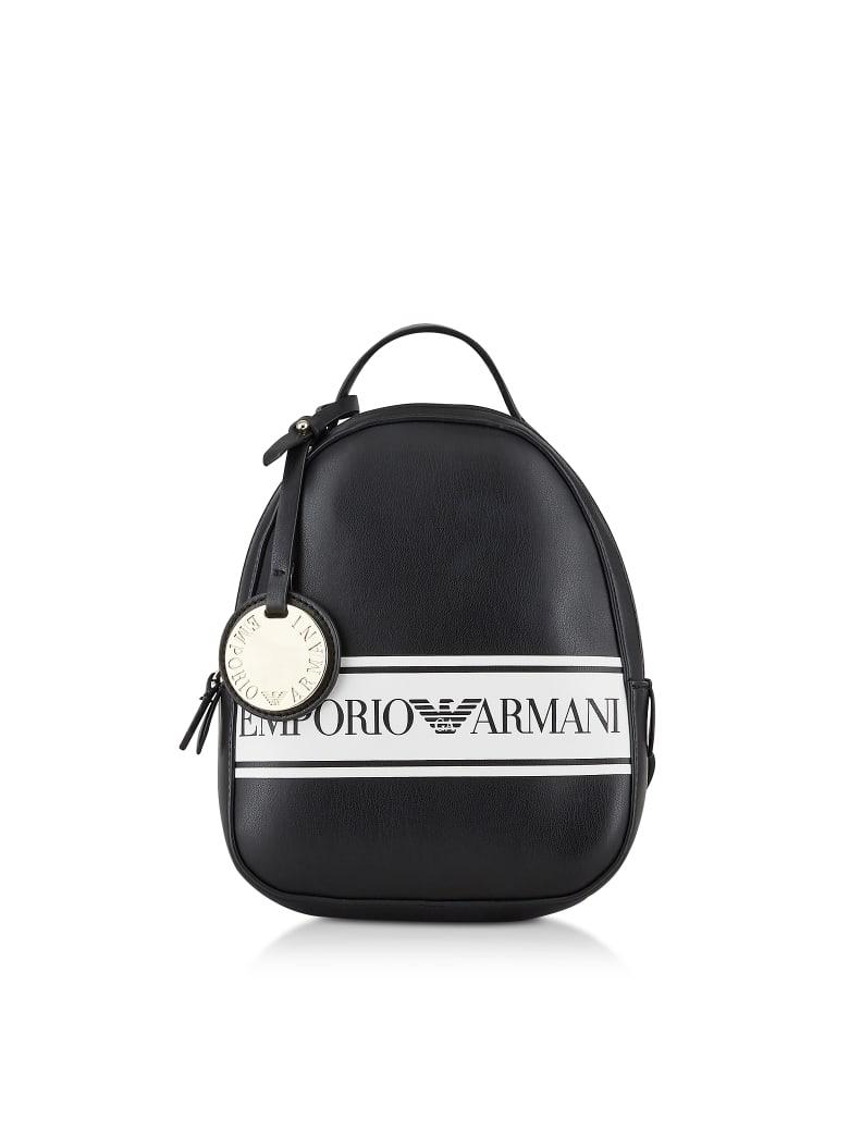 Emporio Armani Black & White Backpack - Black / White