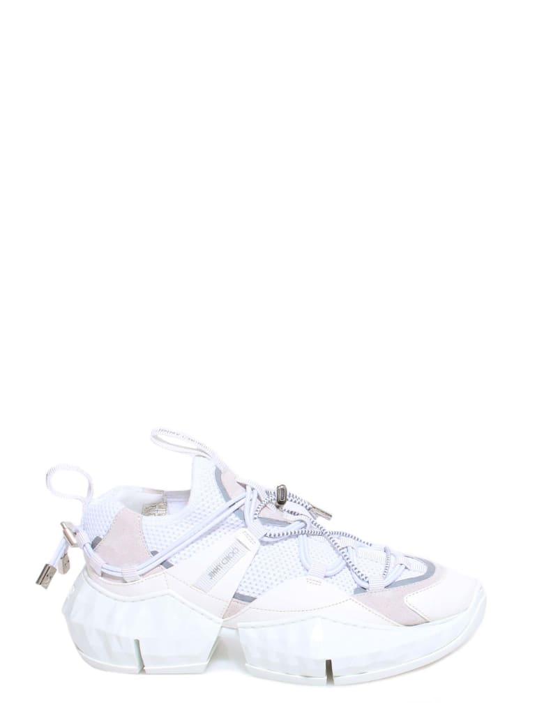 Jimmy Choo Diamond Trail/f Sneakers - White