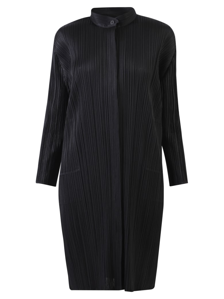 Issey Miyake Pleated Dress - Black