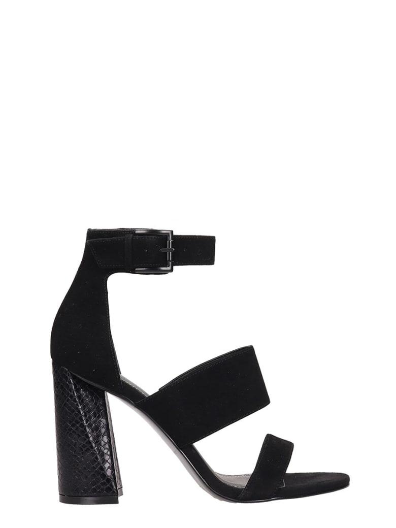 Kendall + Kylie Black Suede Jayne3b Sandals - black