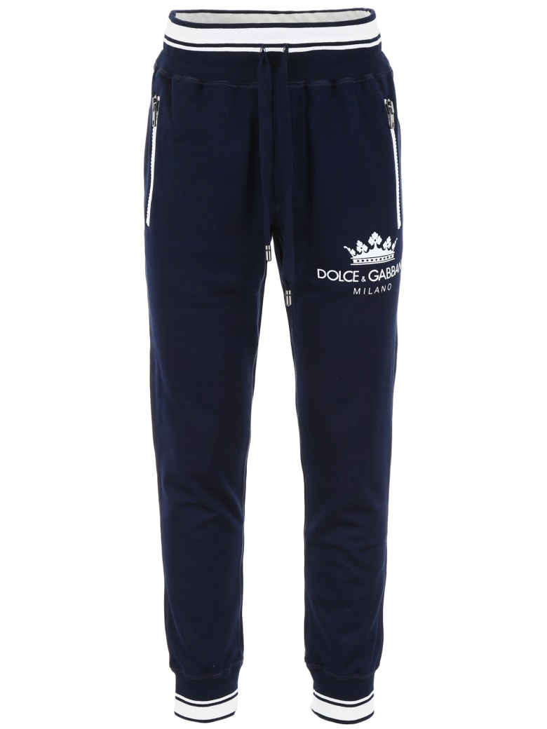 Dolce & Gabbana Crown Joggers - BLU SCURISSIMO 1 (Blue)