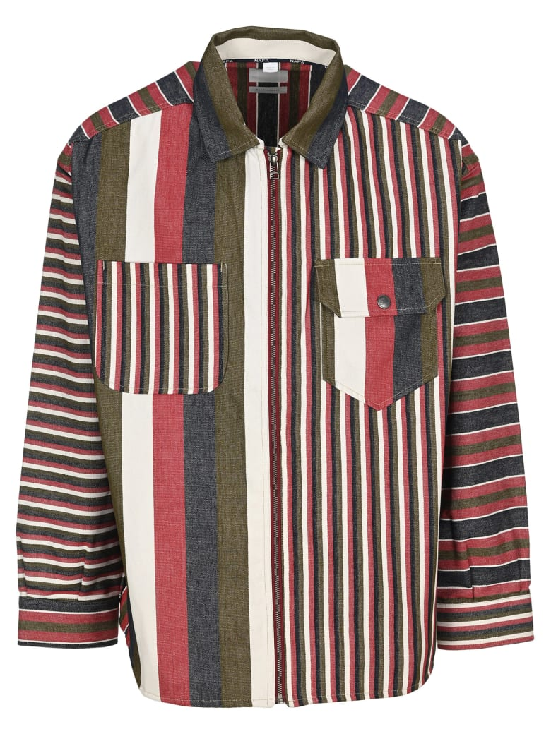 Napa By Martine Rose Napa By Martin Rose Sriped Zip-up Shirt - MULTICOLOR