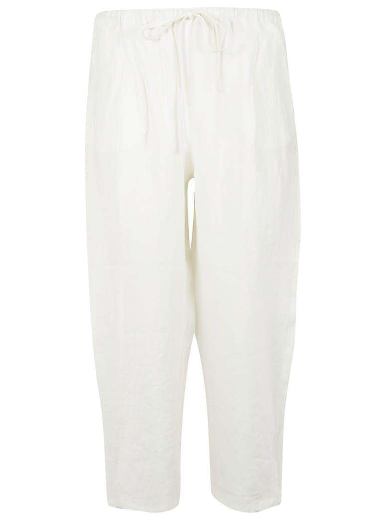 A Punto B Cropped Length Drawstring Trousers - Milk