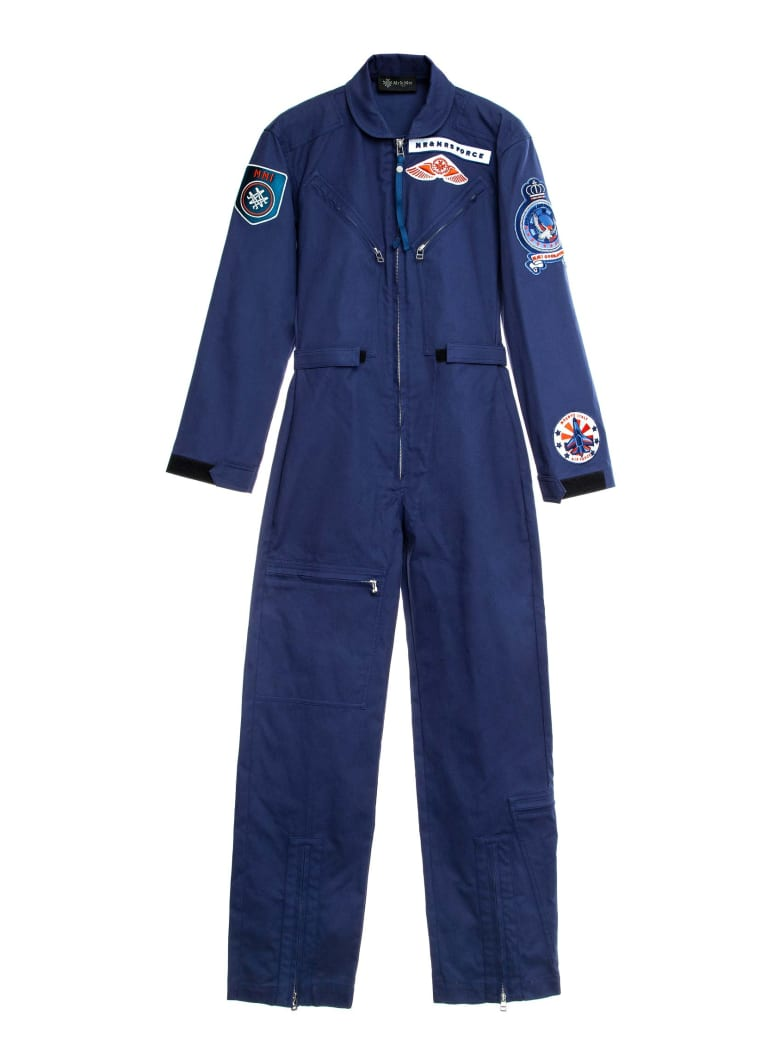 Mr & Mrs Italy Aviation-inspired Jumpsuit For Woman - INDACO