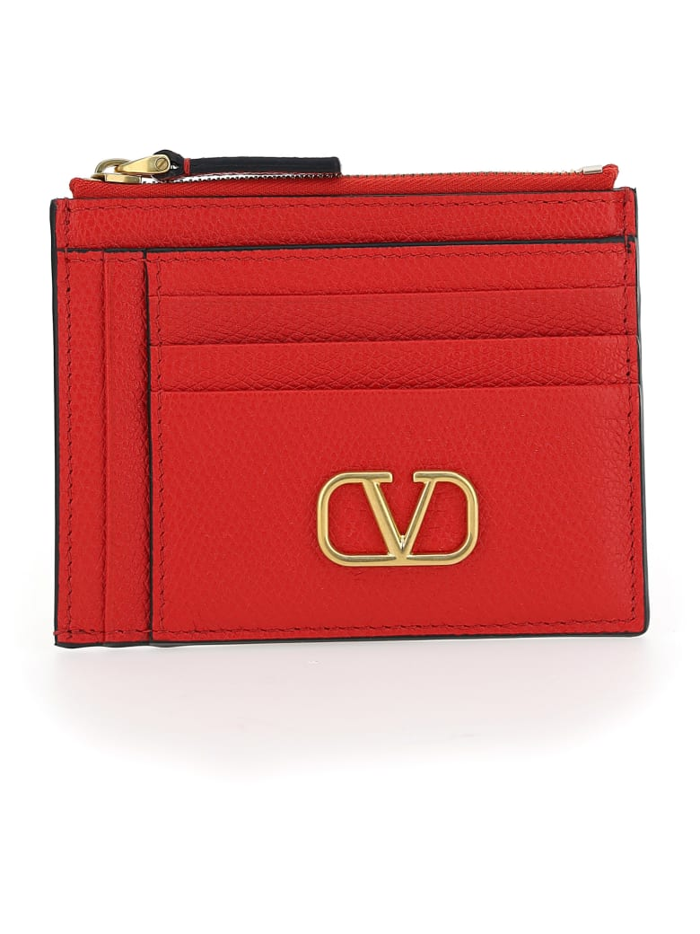 Valentino Garavani Card Holder - Rouge pur