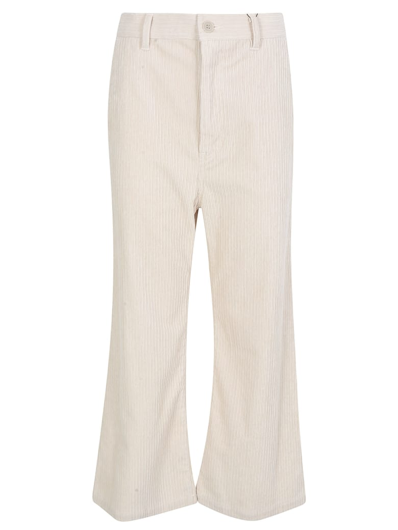 Zucca Flared Cropped Trousers - Natural