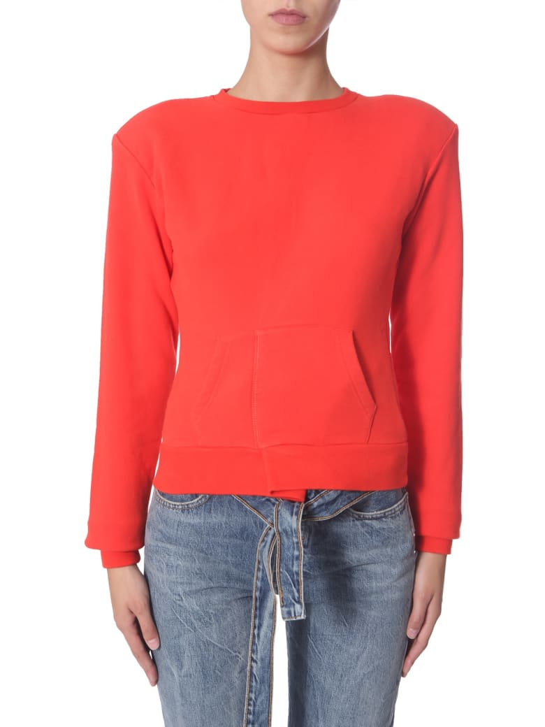 Ben Taverniti Unravel Project Crew Neck Sweatshirt - ROSSO