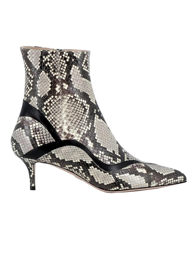 Paula Cademartori Blanc Leather Ankle Boots - WHITE