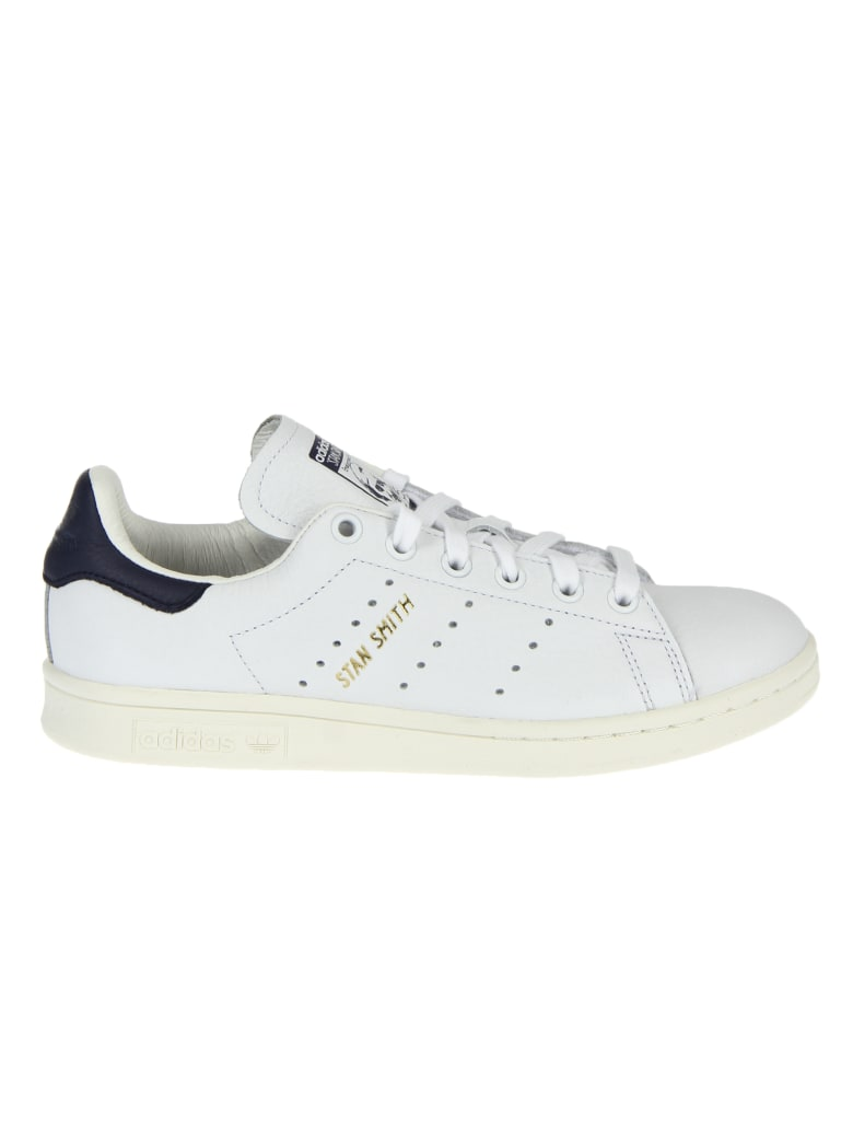 Adidas Originals Stan Smith White And Blue Sneakers - white