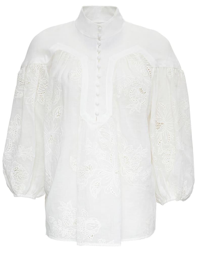Zimmermann White Riders Shirt - White