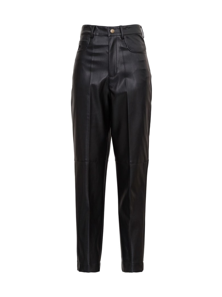 Philosophy di Lorenzo Serafini Leatheret  Trousers - Black