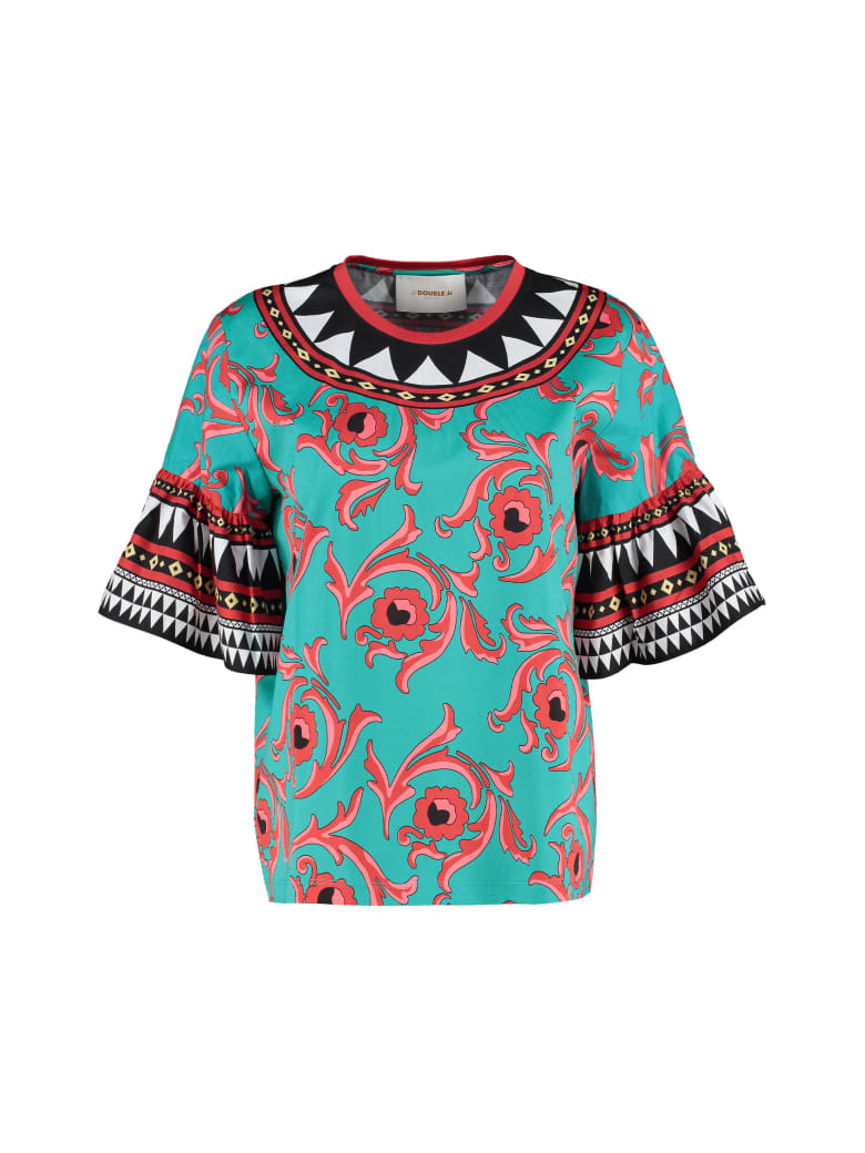 La DoubleJ Printed Cotton T-shirt - Multicolor