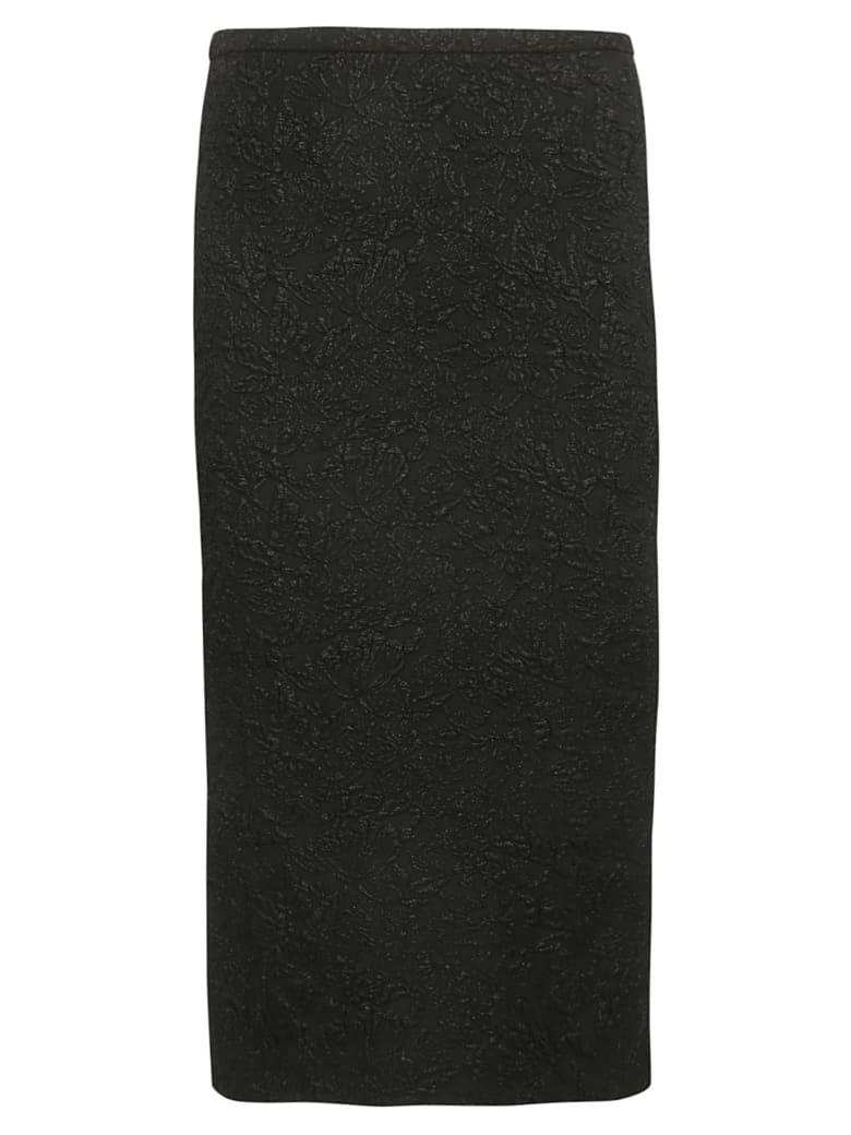 Rochas Floral Skirt - Black