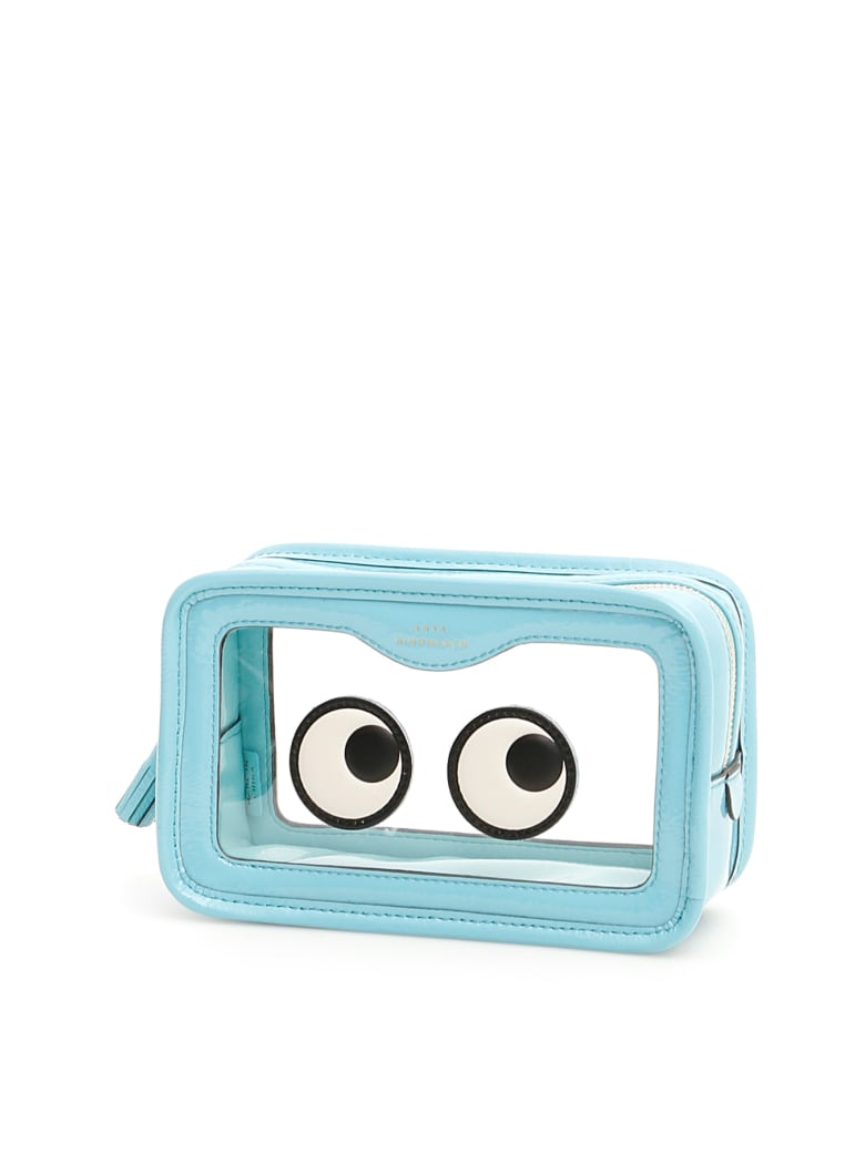 Anya Hindmarch Rainy Day Eyes Make Up Pouch - AQUAMARINE (Light blue)