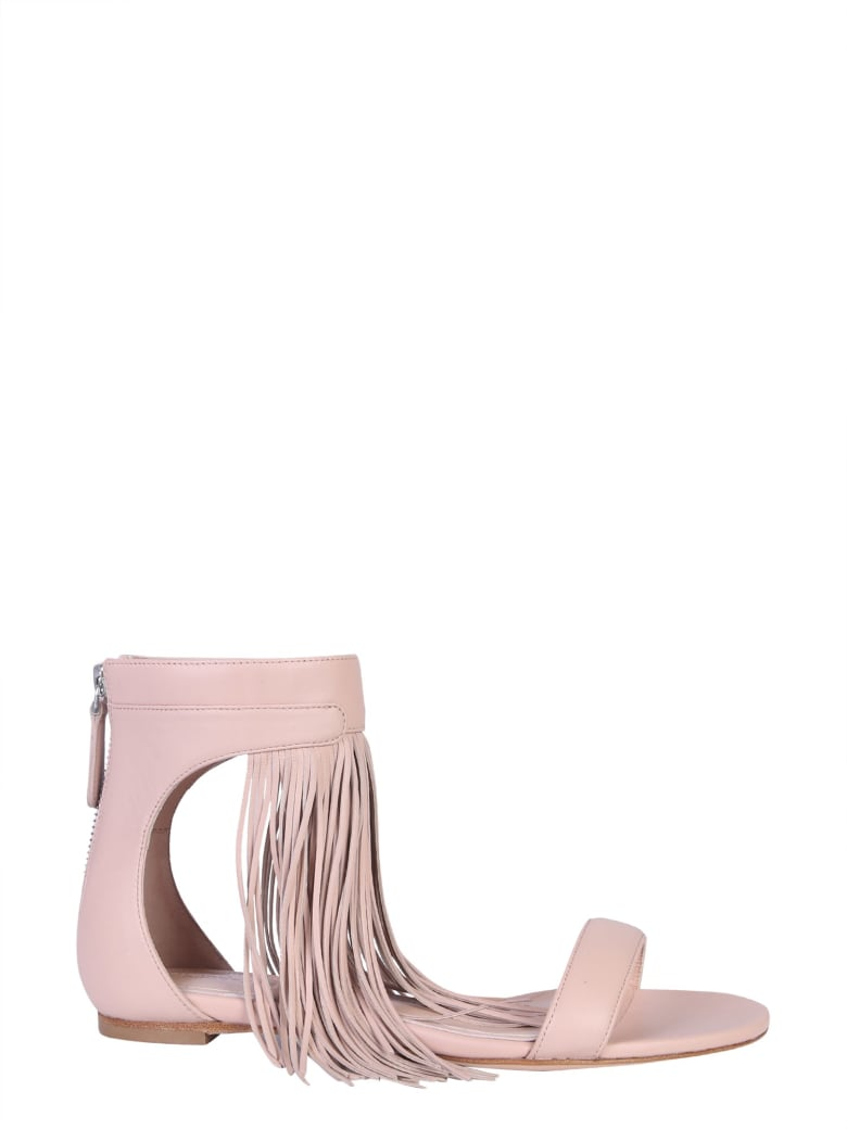 Alexander McQueen Sandal With Fringes - ROSA