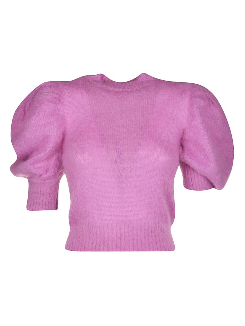 WANDERING Wool Knit Cropped Top - Pink