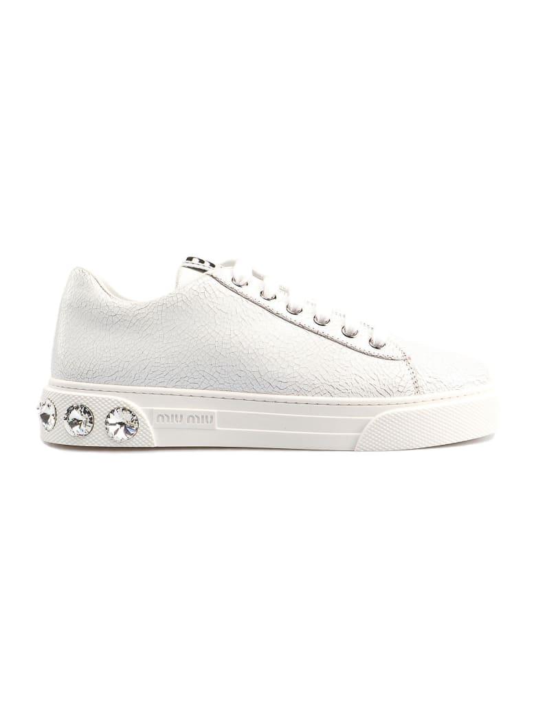 Miu Miu Lace Up Shoe - Bianco
